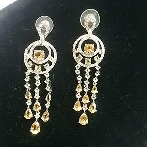 Jewelry - Gemstone chandelier earrings